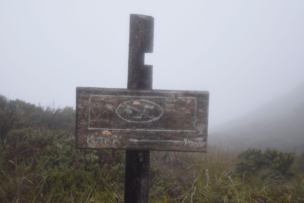 El kilómetro siete, cuando estás a la misma distancia regresar o tomar valor y avanzar hasta el destino final