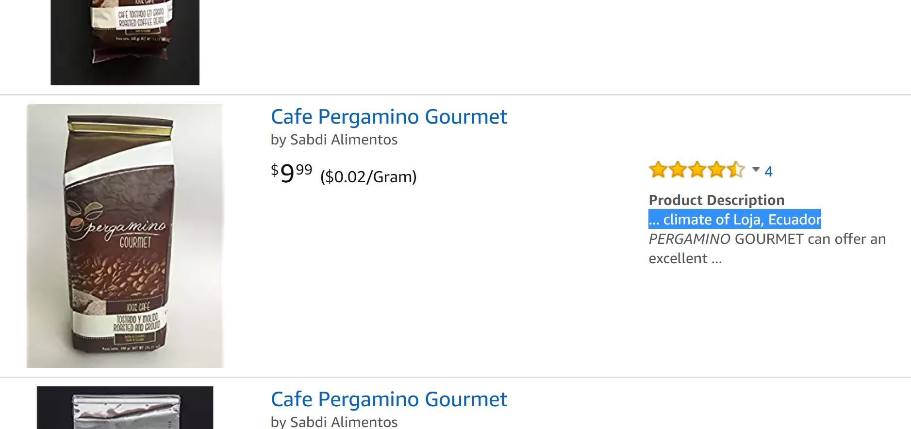El café que se cosecha en Loja y que hoy se vende en Amazon